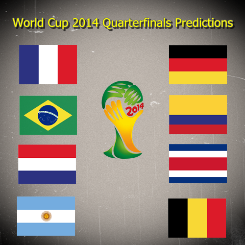World Cup 2014 Quarterfinals Predictions